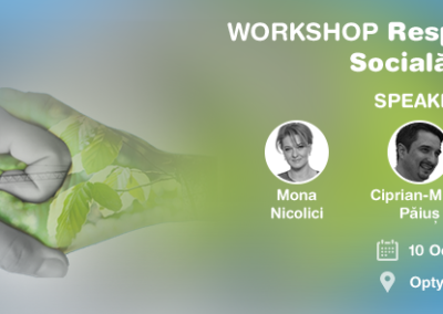 WORKSHOP Responsabilitate Socială Corporativă 2015