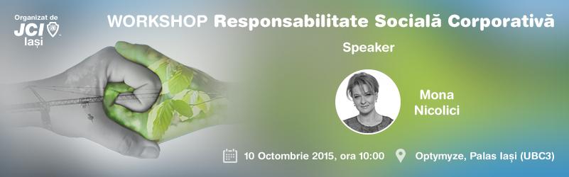 WORKSHOP Responsabilitate Socială Corporativă 2015